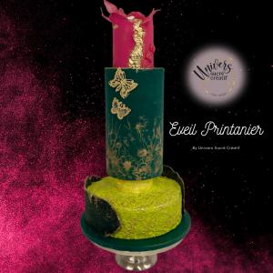éveil printanier cake design weeding cake